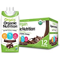 Orgain Organic Nutritional Shake, Creamy Chocolate Fudge - Meal Replacement, 16g Protein, 21 Vitamins & Minerals, Gluten…