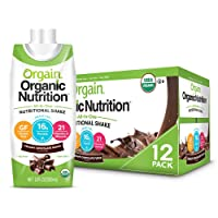 Orgain Organic Nutritional Shake, Creamy Chocolate Fudge - Meal Replacement, 16g...