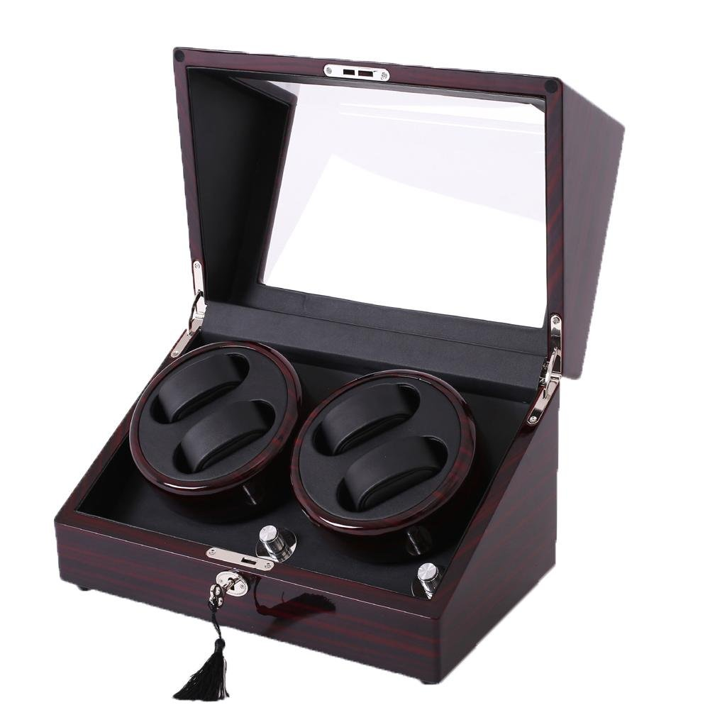 KAIHE-BOX Watch Winders Storage Display Box Case Organizer Jewellery Wristwatch with Cushion Watches drawer Watches for Men High Grade Luxurious Cover Box/Jewelry Drawer (electric motor shaking) 08
