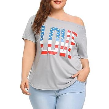LILICAT® Camisetas de Tallas Grandes para Mujeres (L ~ 3XL), 2018 Letras