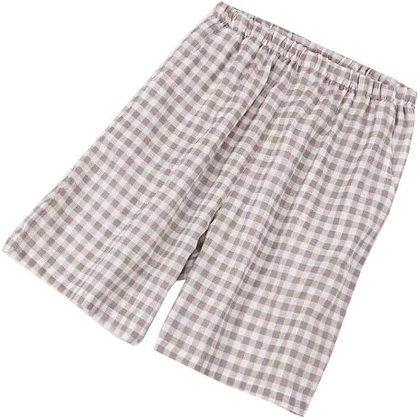 Pantalones Cortos Pijama Algodón Hombres Rayas Talla Grande Cintura Elástica Suelta Playa: Amazon.es: Ropa y accesorios