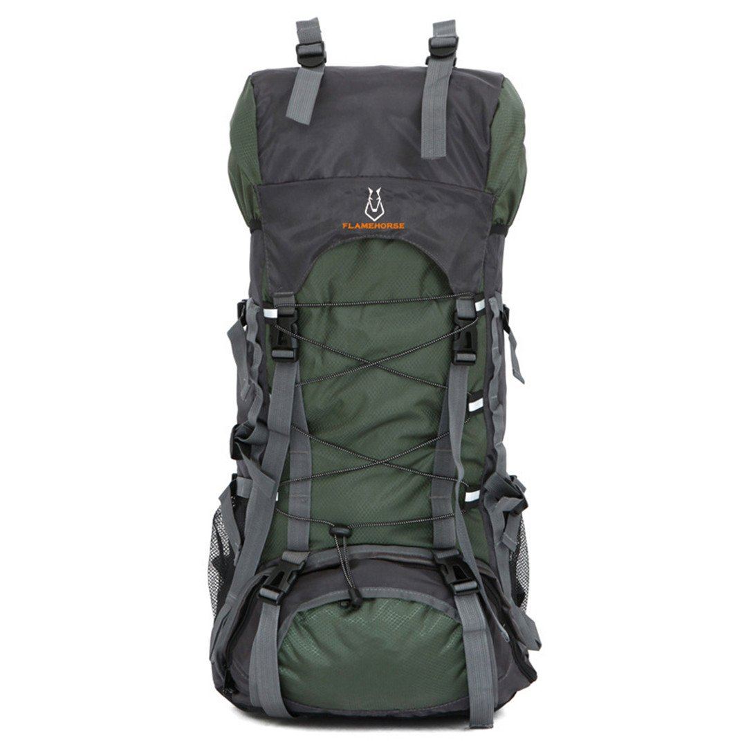 60lナイロン/オックスフォード防水ドライバッグアウトドア旅行バックパックメンズレディースキャンプ登山ハイキングバックパック B07B491NPC 50 - 70L アーミーグリーン アーミーグリーン 50  70L