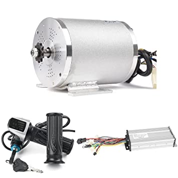 Electric Brushless DC Motor Complete Kit, 48V 2000W 4300RPM High Speed  Motor, With 33A 15 Mosfet Controller, Battery Display LCD Throttle,  Electric
