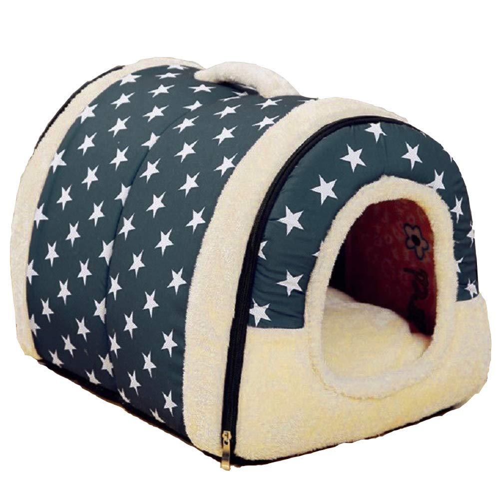patrón de estrella Nido para mascotas, suave y acogedor perro mascota nido cálido nido mascota algodón, Multifuncional plegable Cama Cómodo Casa Para Perro ...
