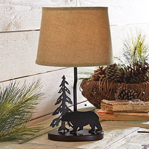 Black Forest Decor Midnight Bear Metal Table Lamp ()