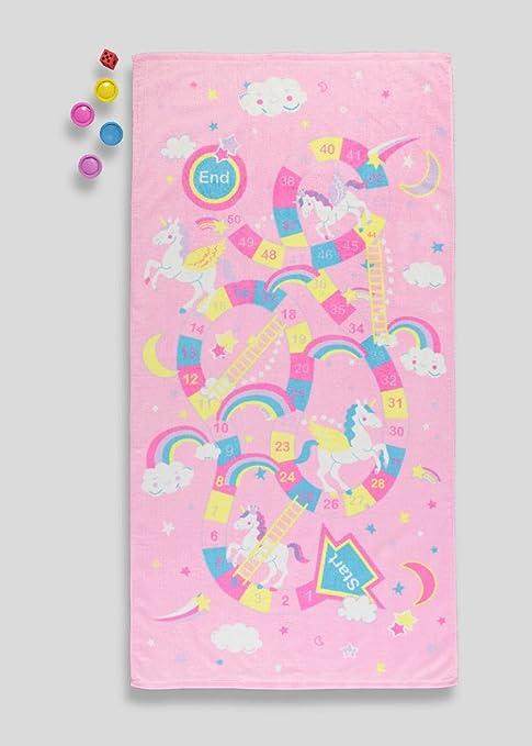 Juego de toallas de playa con diseño de unicornios y escaleras en bolsa de malla