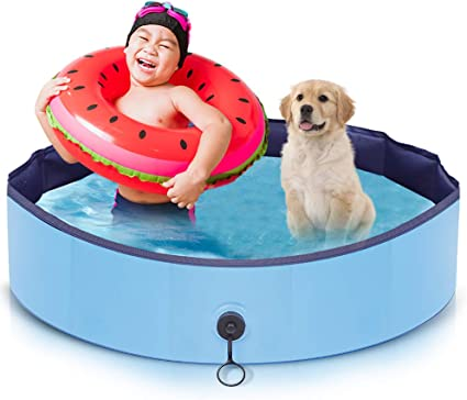 AIIYME Dog Pool, Pet Pool Dog Swimming Pool (32X8inches/80X20cm)