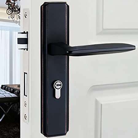 TDJDYQ Modern Door Locks Office Indoor House Lock Private Door Lock Wooden  Door Lock Handle Lock