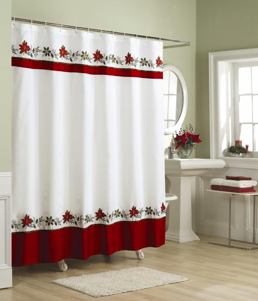 Amazon.com: Lorraine Home Fashions Holly Shower Curtain, 70 by 72 ...