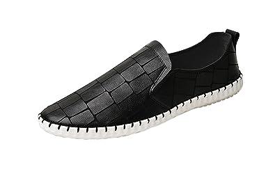 ICEGREY Herren Slipper Fahren Freizeitschuhe Mokassin Mode Loafer Schuhe Weiß 39 EU x9cXWcgd7b