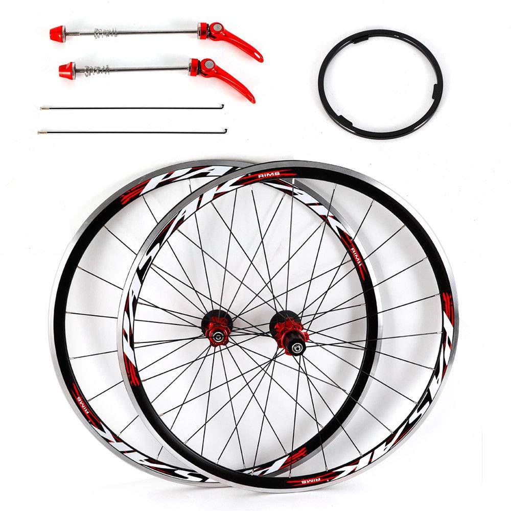 NOPTEG 700C Bicycle Bike Wheel Front Rear Wheel Wheelset Aluminium Alloy Rim 30mm USA by NOPTEG (Image #6)