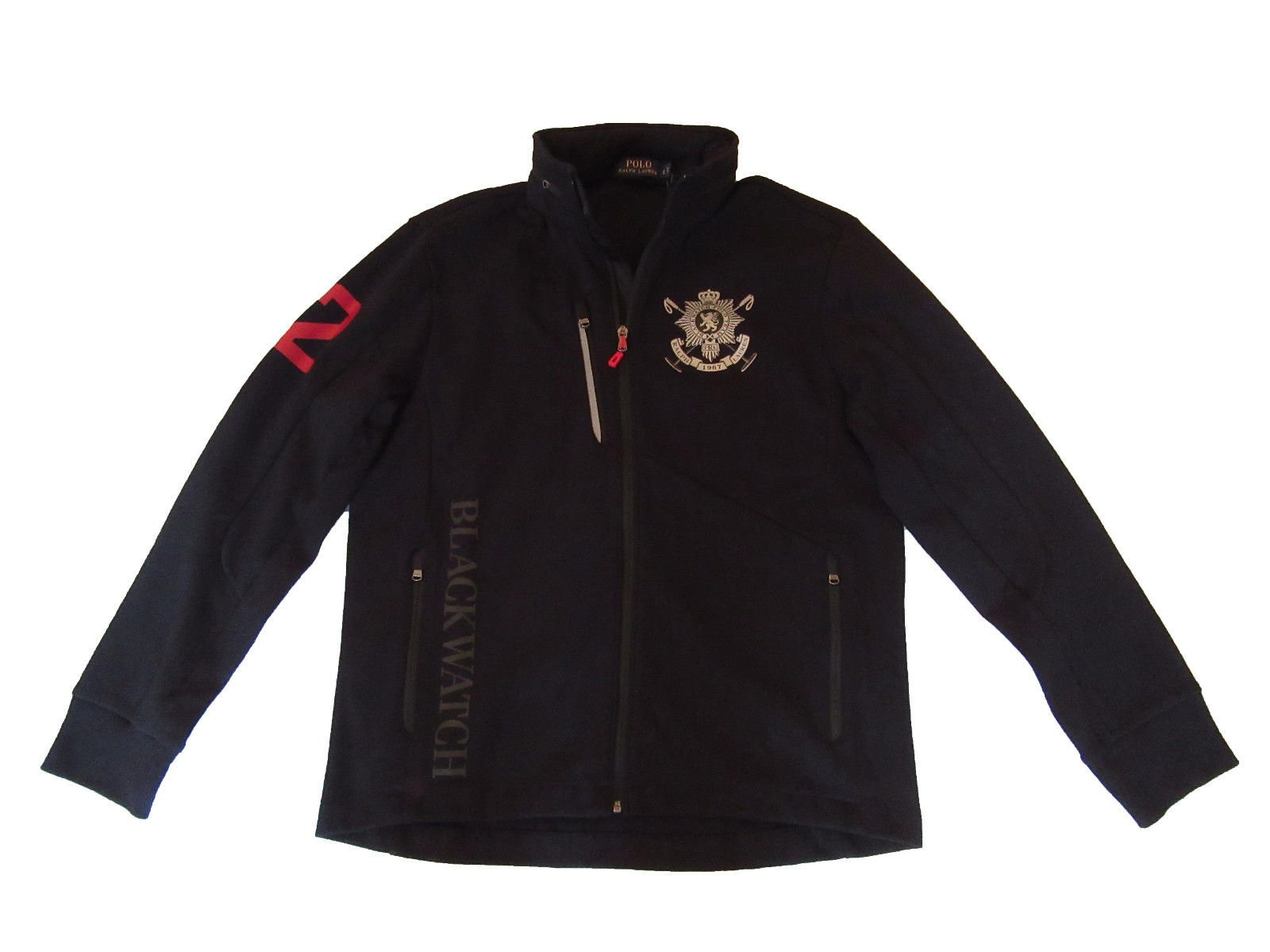 Ralph Lauren Polo Men Black Watch Pieced Track Jacket (Large) by RALPH LAUREN