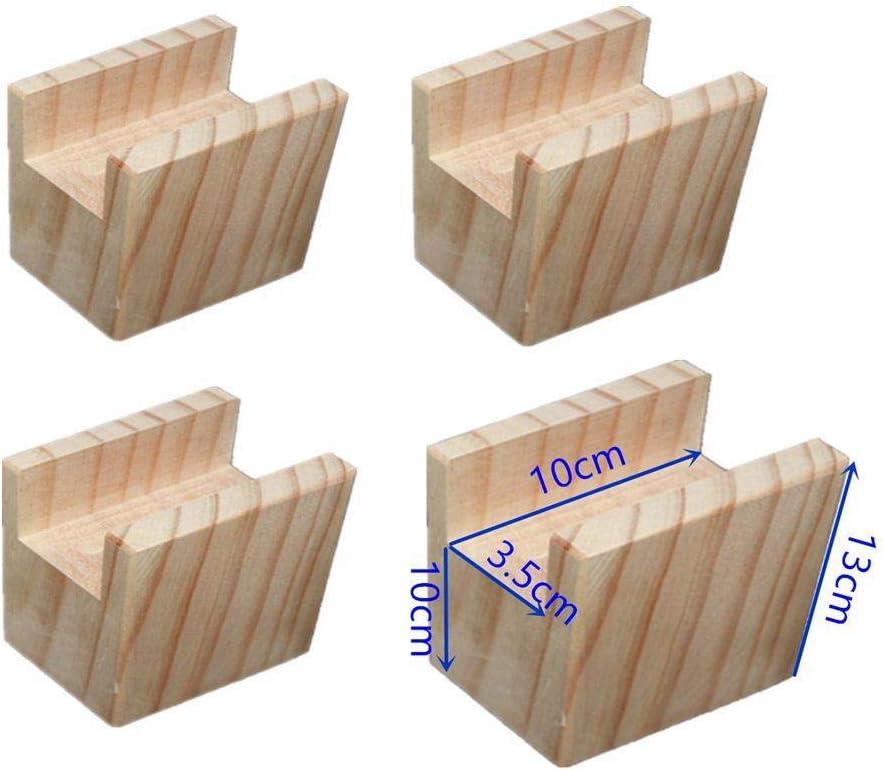M/öbelerh/öher Betterh/öhung Tischerh/öher Elefantenfu/ß Bed Riser aus Holz 4 St/ück