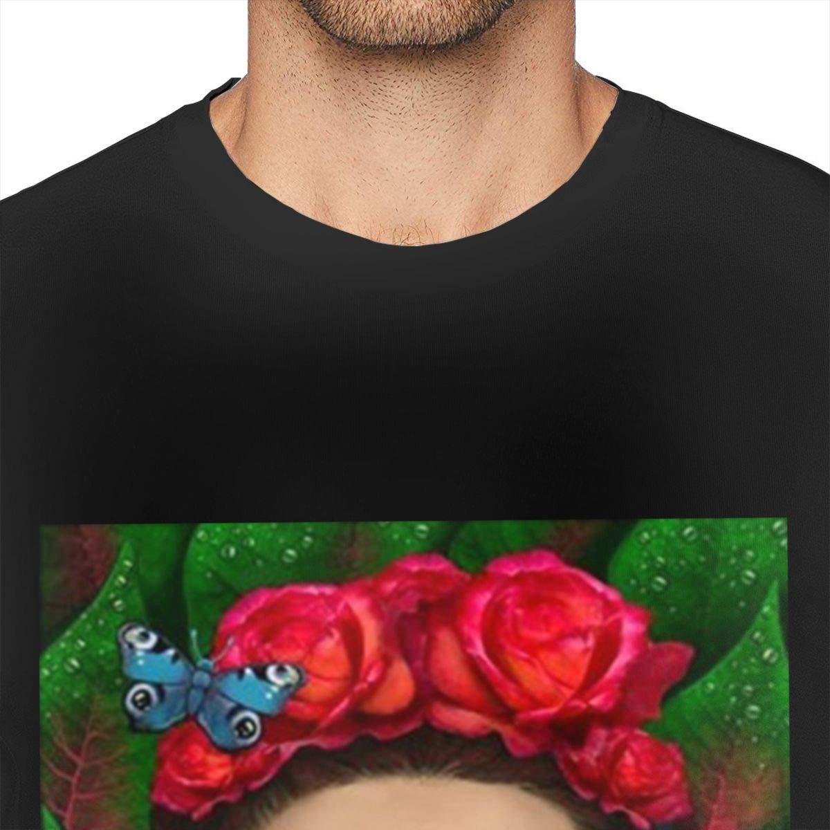 Badalink Men Casual Frida Kahlo T-Shirt