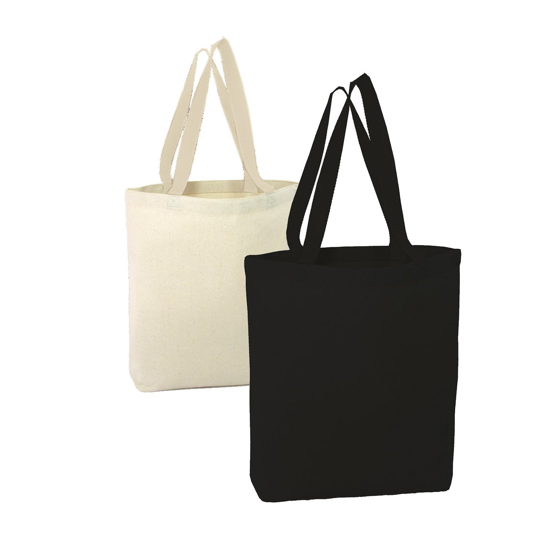 bagzdepot Heavy販促トートバッグキャンバスバッグ、天然またはブラック, 15