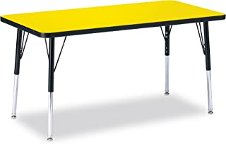 product image for Jonti-Craft Ridgeline Kydz Rectangular Activity Table (24 in. W x 48 in. D x 11 in. - 15 in. H. - Yellow)