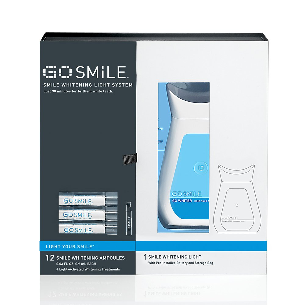 amazon com go smile whitening light system 12 count tooth