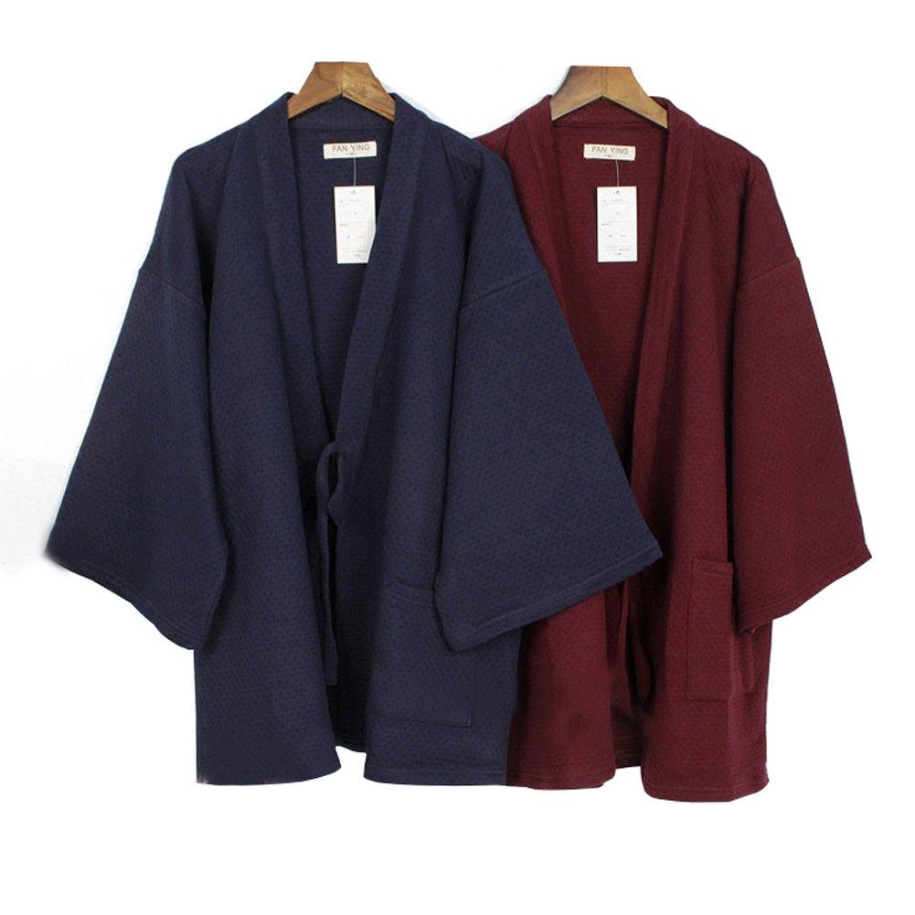Trajes de estilo japonés para hombres Traje de pijama de invierno y kimono de invierno grueso y suelto: Amazon.es: Ropa y accesorios