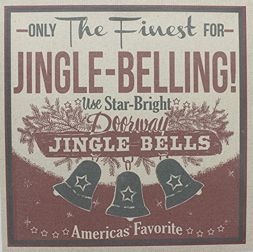 Vintage Style Burlap Decorative Sign for Christmas -