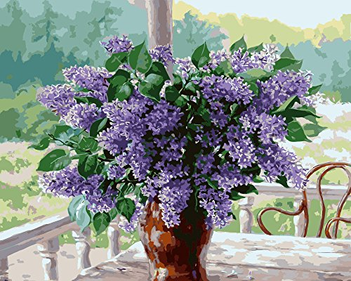 Wooden Framed Paint by Number or Not Diy Oil Painting by Numbers - Garden Lavender 1620 inches - PBN Kit for Adults Girls Kids White Christmas Decor Decorations Gifts (Paint By Number Advanced)