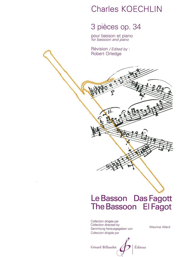 Trois Pieces Opus 34 Broché – 1 janvier 2000 Koechlin Charles Billaudot B003JYOPH8 G4689B
