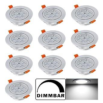 Deckenstrahler Alu Sets 230Volt Einbauspot Power LED 7Watt Einbaustrahler Lampen