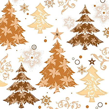 ambiente 3 ply paper lunch napkins copper christmas tree design