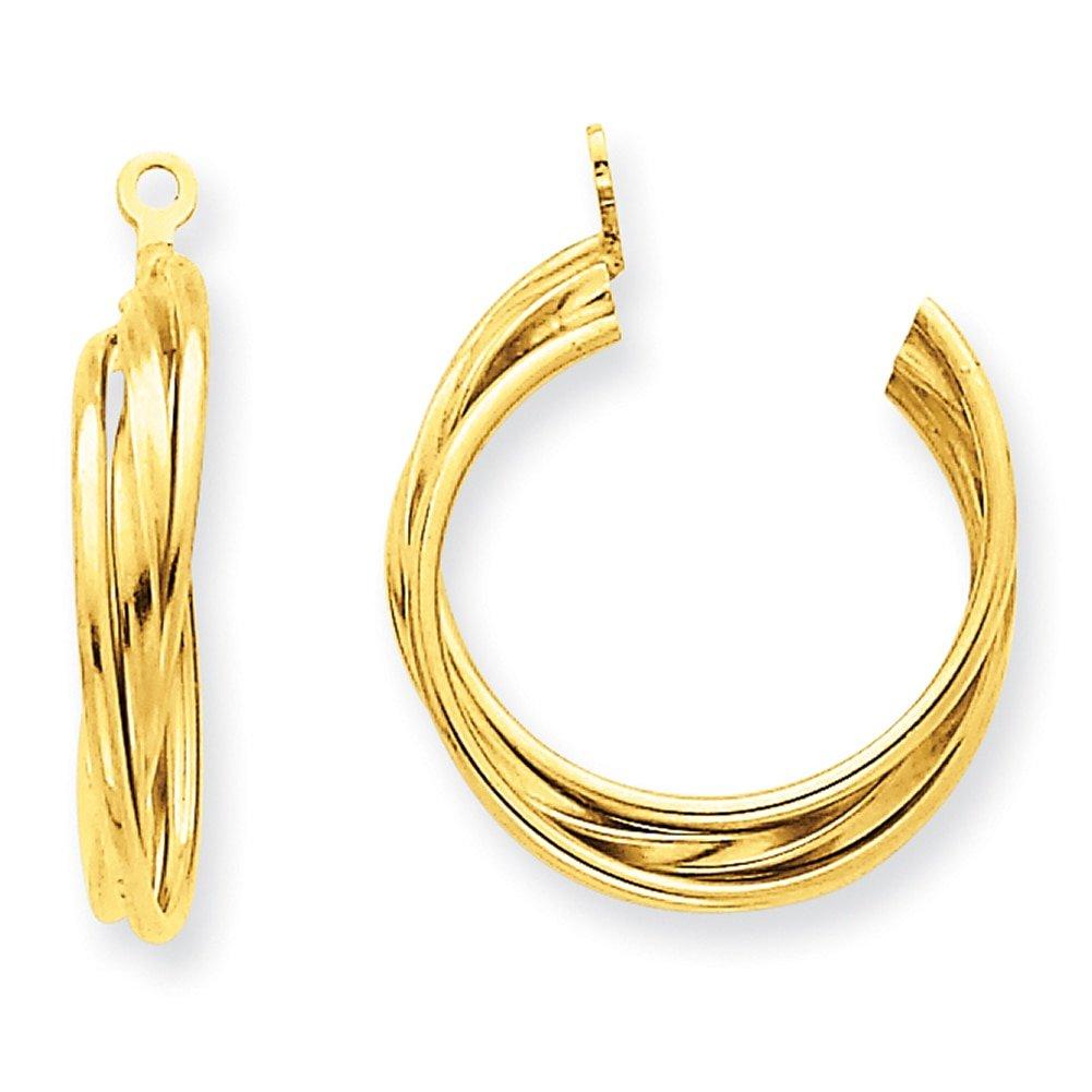 Lex /& Lu 14k Yellow Gold Polished Hoop Earrings Jackets LAL81420