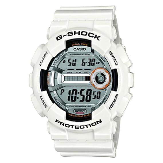 Casio GD-110-7ER - Reloj digital de cuarzo para hombre con correa de resina, color blanco: G-SHOCK: Amazon.es: Relojes