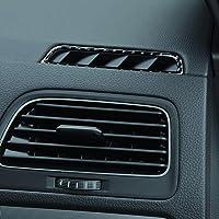 znwiem Coche Ventilaci/ón Escape Marco Tapa Embellecedora para BMW E90 E92 E93 Fibra de Carbono Interior Accesorios