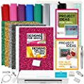 Silhouette Cameo 3 Bundle - Glitter Heat Transfer Vinyl + Designs, Adhesive Backed Vinyl + Designs & Tools by Silhouette America