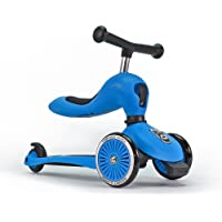 Scoot & Ride highwaykick1 2-in-1 Scooter & Balance Bike ,Ride On-Blue