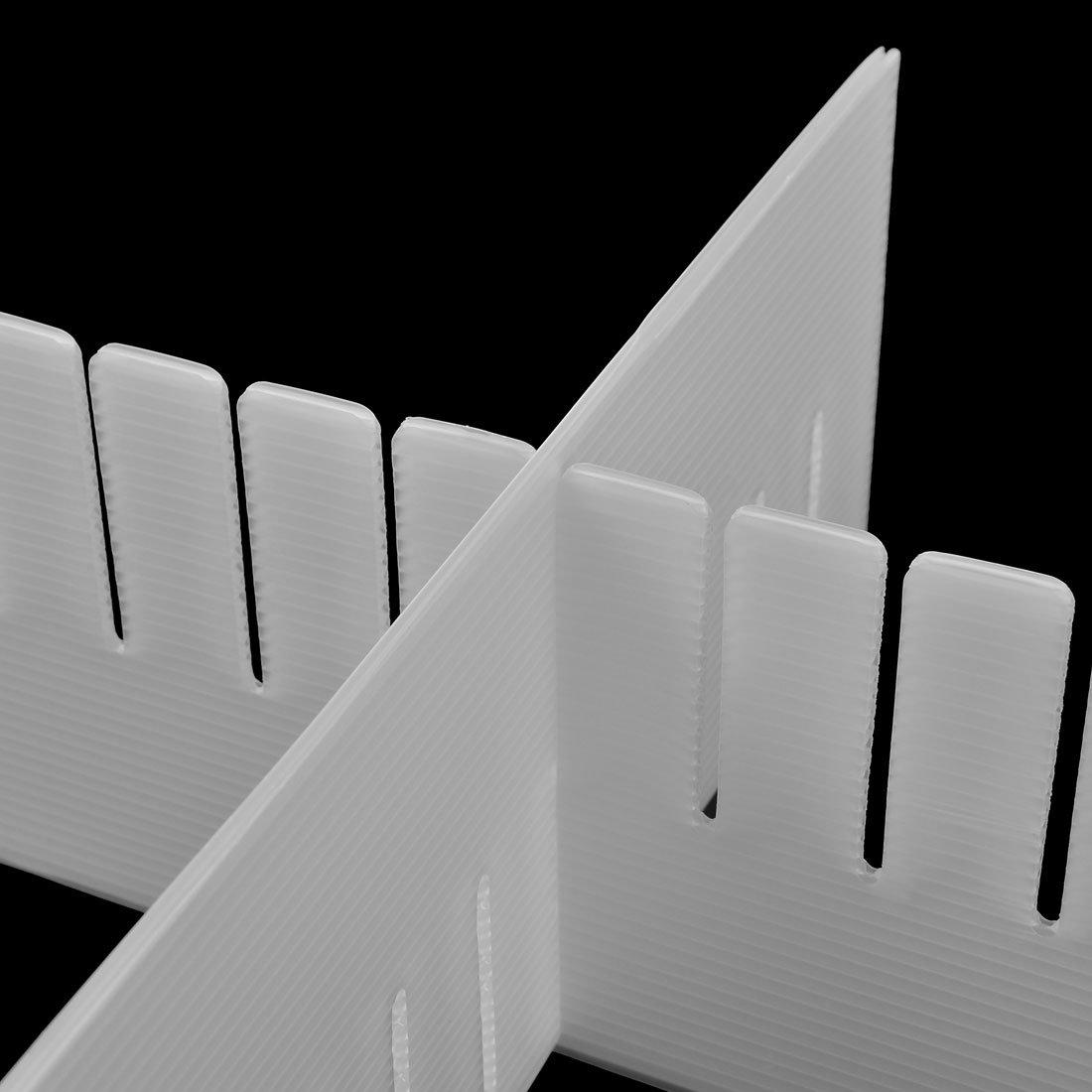 sourcingmap/® plastica fai da te griglia divisori per cassetti articoli per la casa di archiviazione esterni Bianco 6 Pz