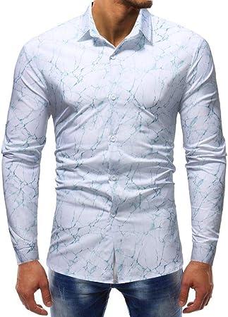 HhGold XXXL Camisa Negra para Hombre Top de Manga Larga Casual Slim Fit Floral Patrón 3D Poliéster Personalizado Y Cuello Reino Unido Venta Gran Blusa Jersey (Color : Blanco, tamaño : XXX-Large):