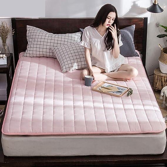 ... de colchón Topper, Espesado Dormitorio estudiantil Cama alfombras Protector Cubierta Respirable Sleeping Pad Futón-C 120x200x5cm: Amazon.es: Hogar