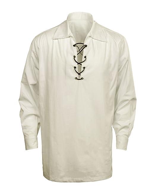 Cusfull Camisa Escocesa de Hombre Estilo Jacobite Kilt Medieval ...
