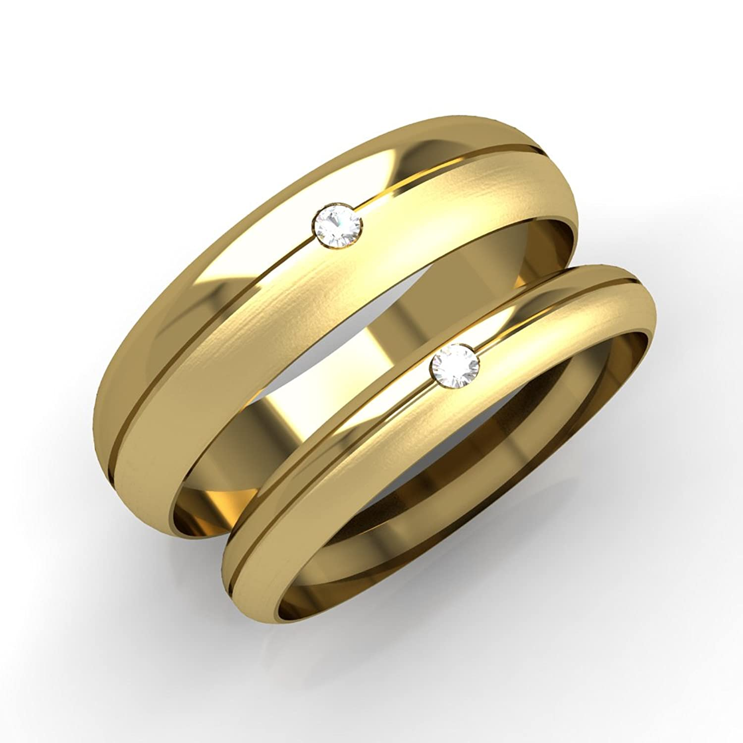 his and hers wedding ring sets a set of 9ct yellow gold d shaped