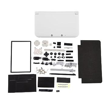 Zerone Completamente Completa Carcasa Carcasa Shell reparación Piezas Kits de Piezas para Nintendo 3DS XL(Blanco)