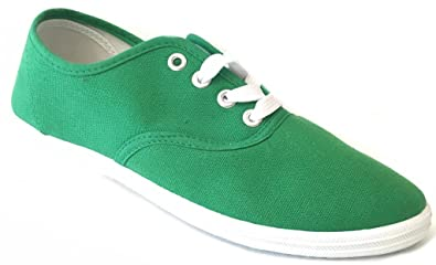 fb43935be174 Shoes 18 Womens Canvas Shoes Lace up Sneakers 324 Emerald Green 5