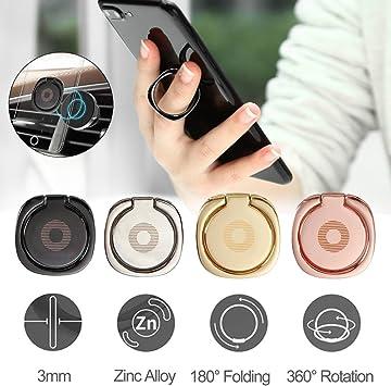 Soporte para teléfono móvil Finger Ring | 360 ° Soporte Giratorio ...