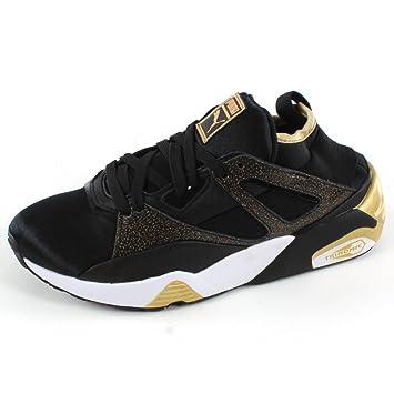 Puma WNS BOG SOCK GRAPHIC Schwarz Gelb Damen Sneakers Schuhe