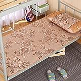 Zzaini Rattan Summer sleeping mat, Folding Ice silk mat Student dormitory Single bed Non-slip Mattress-A 1.2x1.9m