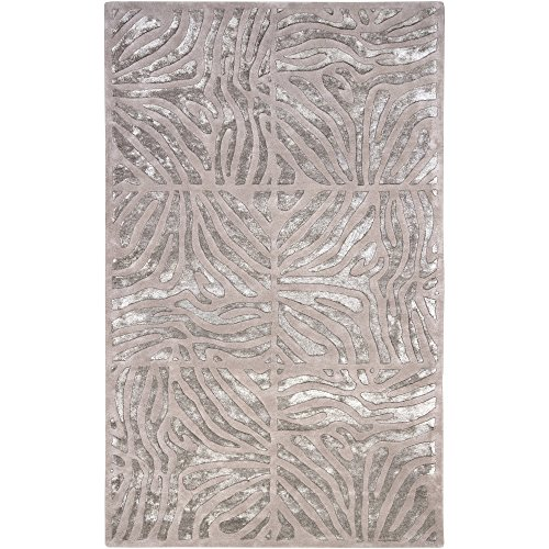 (Surya Candice Olson Modern Classics CAN-1934 Contemporary Hand Tufted 100% New Zealand Wool Taupe 5' x 8' Animal Area Rug)