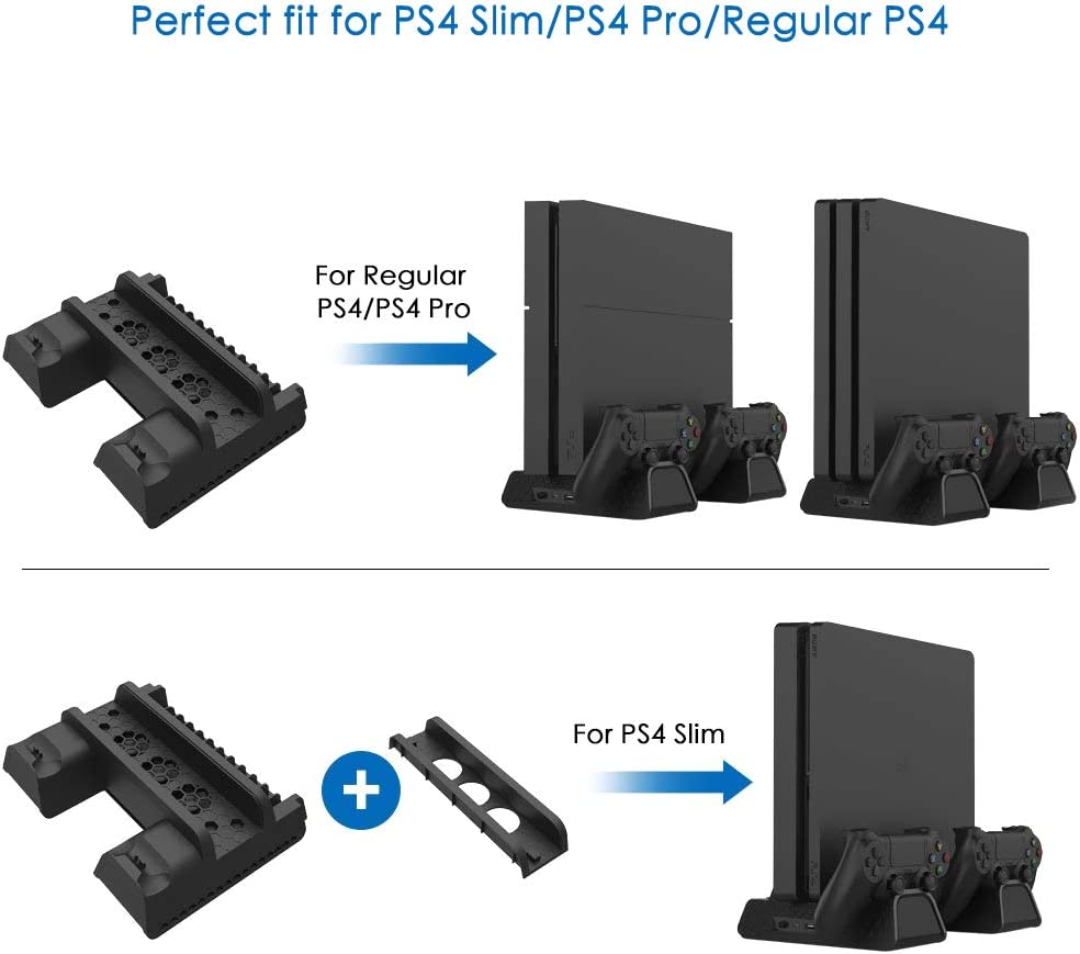 RegeMoudal Soporte Vertical para PS4/PS4 Slim/Pro Base PS4 ...
