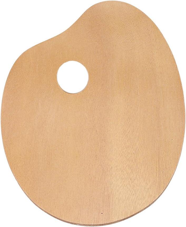 Paleta de madera ovalada vintage de tamaño grande para pintura de aceite/acrílico, herramienta de pintura de madera natural con agujero para el pulgar para pintar artistas, juego de dibujo: Amazon.es: Juguetes y