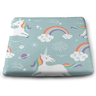 Sanghing Customized Cute Unicorns 1.18 X 15 X 13.7 in Cushion, Suitable for Home Office Dining Chair Cushion, Indoor and Outdoor Cushion.: Home & Kitchen