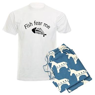 5d477d6d CafePress - Fish Fear Me - Unisex Novelty Cotton Pajama Set, Comfortable PJ  Sleepwear