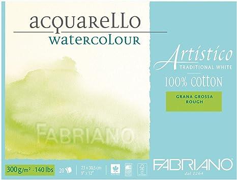 Fabriano Acuarela Papel, algodón, color blanco, algodón, weiß, 23 ...