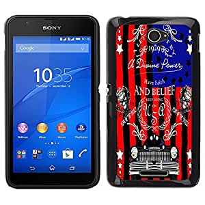 Dragon Case - FOR Sony Xperia E4 - I love the way - Caja protectora de pl??stico duro de la cubierta Dise?¡Ào Slim Fit