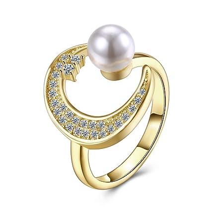 Good dress-ring Anillo de la Perla de la Mujer Anillo de la ...